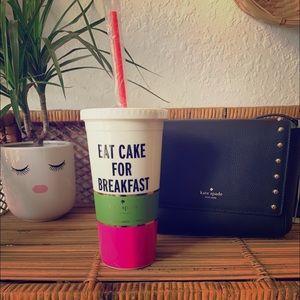 Kate Spade Tumbler 🍰 Eat Cake for Breakfast